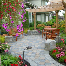 Traditional Patio by Pacifica Landscape Works Inc.