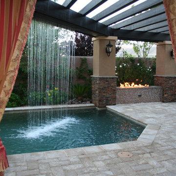 Pool & Spa with Rainfall