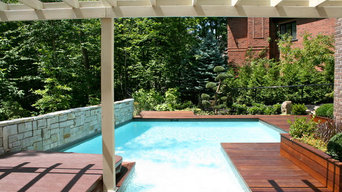 Pool and wood deck
