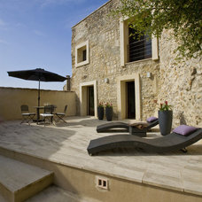 Mediterranean Patio by Studio Santalla, Inc
