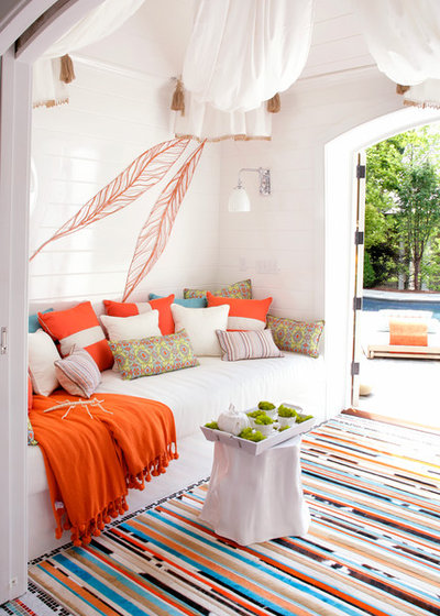 Eclectic Patio by Valerie´s JOY OF LIVING