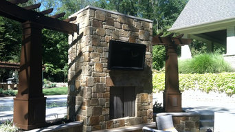 Pool House and Fireplace