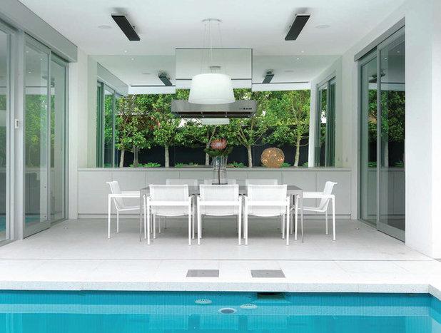 Modern Patio by David Edelman Architects