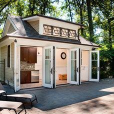 Transitional Patio by J. Schwartz, LLC Remodeling & Fine Homebuilding