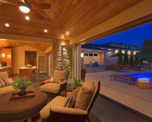 Example Of A Trendy Patio Kitchen Design In Minneapolis