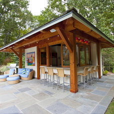 Contemporary Patio by South County Post & Beam, Inc.