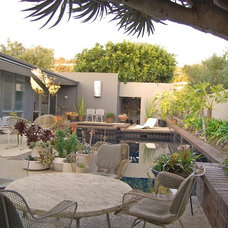 Midcentury Patio by Dana Nichols