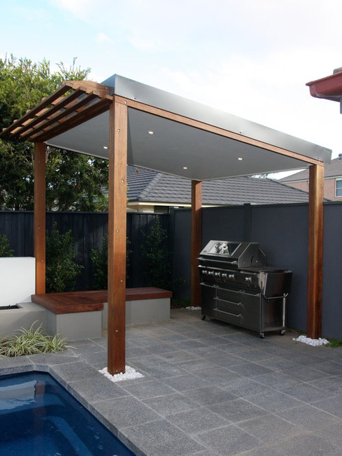 Covered Bbq Alfresco Area Houzz