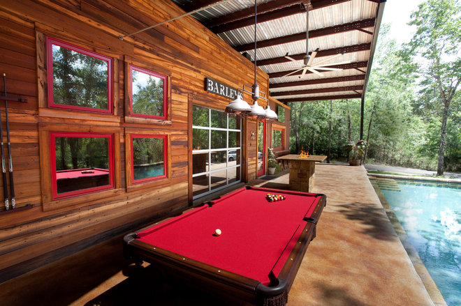 Rustic Patio by Wright-Built