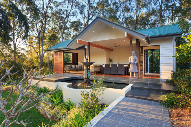 Asian Patio by Project Designs Architects