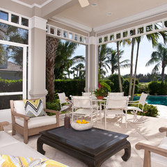 tropical patio by Katherine Crosby, Jenkins Baer