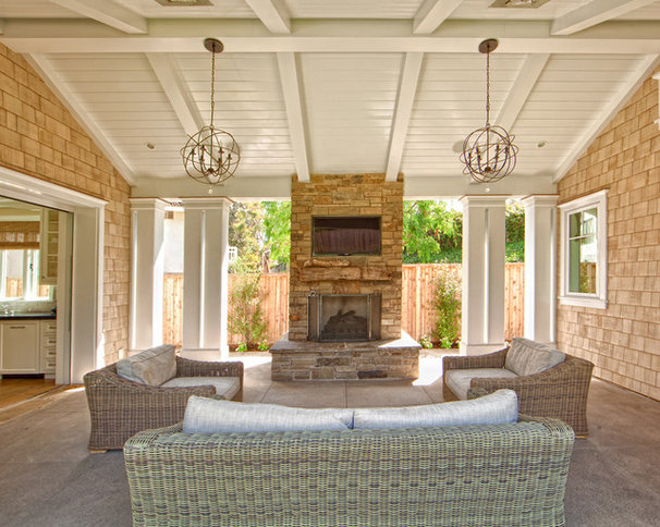 Traditional Patio by William Guidero Planning and Design