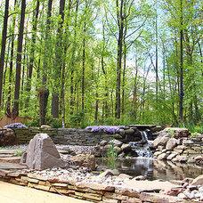 Contemporary Patio Potomac landscape & outdoor entertaining space