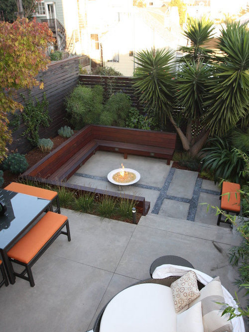 AllTime Favorite Concrete Patio Ideas Houzz - Backyard concrete patio ideas
