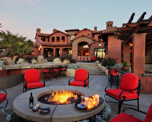 houzz outdoor living spaces outdoor firepit houzz