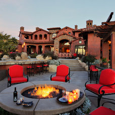 mediterranean patio by Elevation Architectural Studios