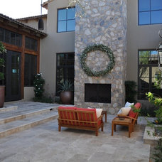 Mediterranean Patio by Travertine Mart