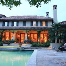 Mediterranean Patio by Preston Custom Homes