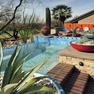 Example of a southwest patio design in Phoenix