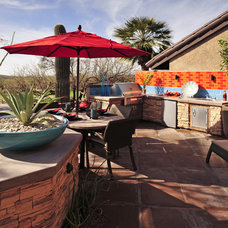 Eclectic Patio by Prideaux Design