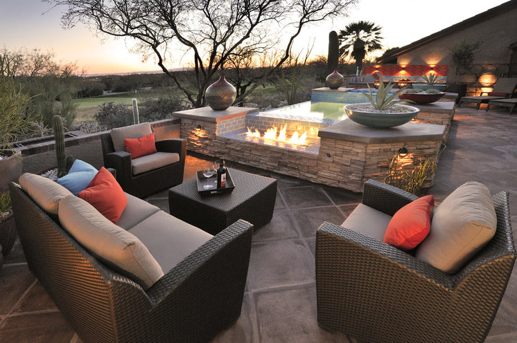 outdoor resort style living scottsdale patio furniture - Comfortable Patio Furniture For Small Spaces. Furniture House