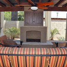 Traditional Patio by Straight Line Landscape