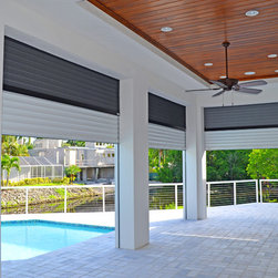 Private Residence - Built-in Titan Screen stacked with Nautilus Shutters - Sunmaster of Naples