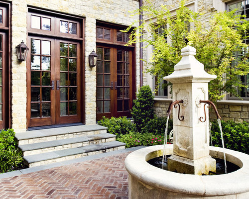 Inspiration for a timeless patio remodel in Dallas - Antique French Door Houzz
