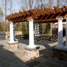Traditional Patio by Christopher L. Karach Landscape Architect