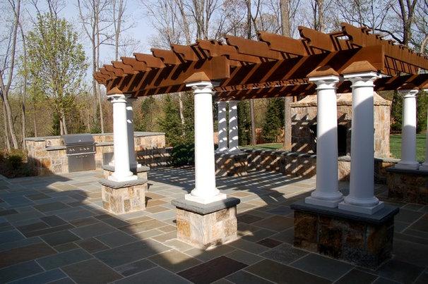 Traditional Patio by Christopher L. Karach Landscape Architect