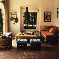 mediterranean patio by valerie pasquiou interiors + design, inc