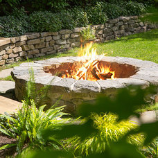 Traditional Patio by Swick's Organic Landscaping