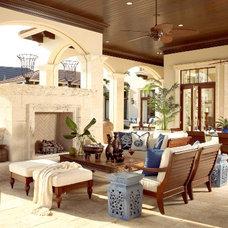 Mediterranean Patio by Pacifica Interior Design