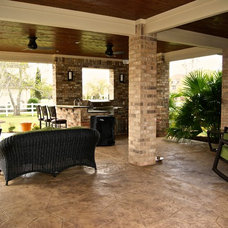 Transitional Patio by Texas Custom Patios