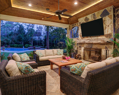 Covered Patio Ideas Houzz - Backyard covered patio ideas