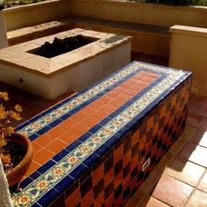 Mediterranean Patio by Talavera & Ceramic Tile Studio