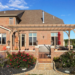 Project Poll; which pergola looks better? 4 posts or 8? - Proposed pergola for Exterior Living client in Ohio. Trying to see what people think looks better; 4 posts or 8?