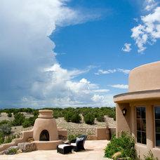 Southwestern Patio by Woods Design Builders