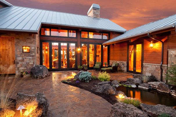 Rustic Patio by Sun Forest