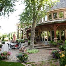 Traditional Patio by Platinum Landscape LLC