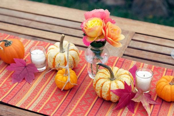 Traditional Patio Pumpkins