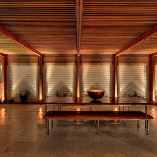 Cette image montre une terrasse design.