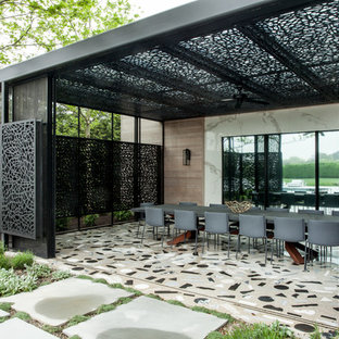 75 Beautiful Midcentury Modern Outdoor Design With A Pergola