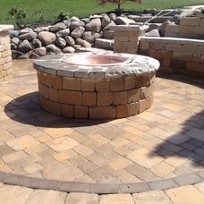 Contemporary Patio by Apex Landscape and Brick Services LLC