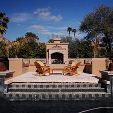 Mediterranean Patio by clemente design studio, llc