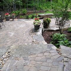 eclectic patio by Treasured Earth Landscaping