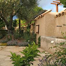 Mediterranean Patio by Franciscan Landscape