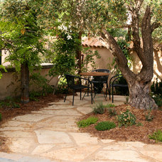 Mediterranean Patio by Franciscan Landscape