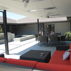 Modern Patio by SOCO Builders