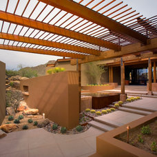 Southwestern Patio by Bianchi Design